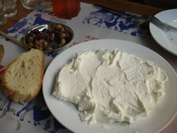 Athogalo, fresh Cretan cheese
