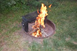 Just a picture of the firepit at the cabin.  It also had an elevated grill.