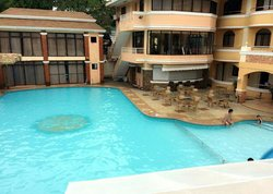 The hotel's swimming pool...