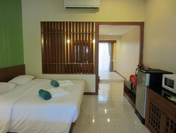 Inside the room for 3 persons