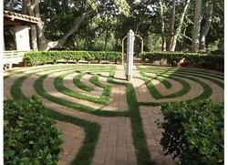 Peace inducing labyrinth on the Los Abrigados grounds by the creek