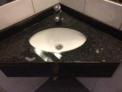 Filty restroom