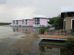 Las habitaciones en la laguna