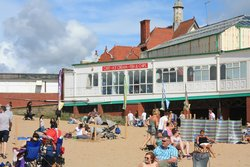 View of Cafe from beach