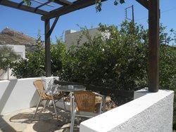 Terrace of garden room