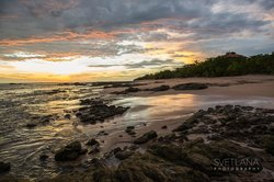 Sunset at Playa Negra Beach which is a short walk from Peace Retreat