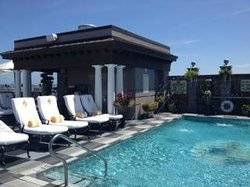 The gorgeous rooftop pool