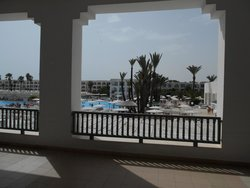 View from balcony outside Restaurant l'Espadon