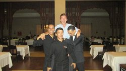 My partner with Mohammed, Otman and one of the restaurant managers