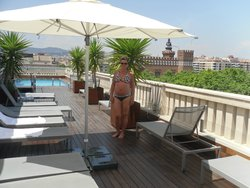 roof-top pool area