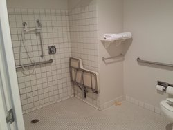 handicap accessible bathroom.  Lots of space.