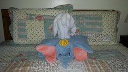 Dumbo made a towel friend!