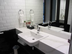 Ensuite - bright, glossy and clean