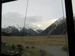 View of Mount Cook from our table