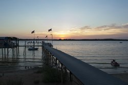 Pier view at Augie's Sunset Cafe