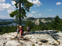 The view of the top of the Crack hike, Killarney Provincial Park