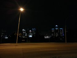 Night view of Detroit