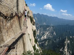 Mountain Huashan Plank Trail