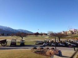 Hot Air Ballon over the Golf Course