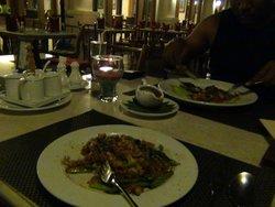 dining at hotel