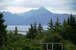 View from cabin on Kachemak bay