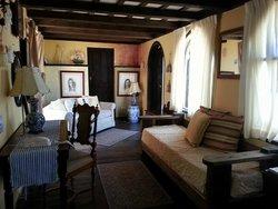 Living room in top suite