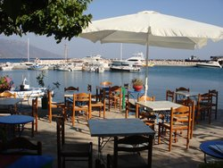 tables with harbour view