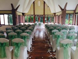 Conservatory room set-up for our ceremony.