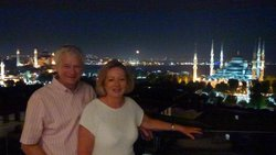 Jenny & David - our last night at the Arcadia Blue, Istanbul