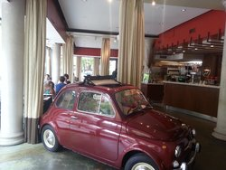 Car in Dining Room of L'Espresso