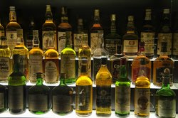 Part of the enormous whiskey collection