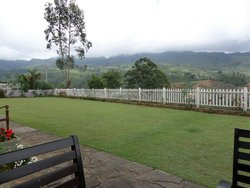 Amazing view of Raddella station, tea estates and mountains from garden of Langadale.