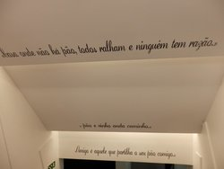 Nice sentences on the ceiling