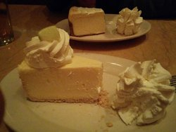 Key lime and original cheesecake