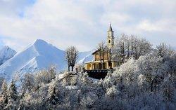 Santuario di Monserrato - Vista da Borgo S. Dalmazzo- Inverno 2014