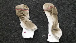 My socks after walking around in the room.