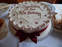 80th birthday cake for my Dad-delicious.