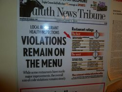 Duluth New Tribune - Recognized Dreamland Supper Club for cleanliness