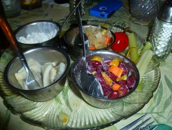 Pickled Herring - Relish Tray - Dreamland Supper Club - South Range Wi
