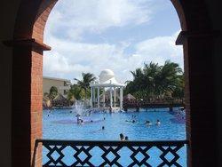Pool thru the walkway arch