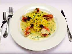 Risotto Safran and shrimp