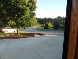 View of the adult section of the campground from our RV window