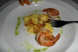 Starter - prawn and risotto