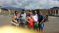 Norma and family from New York city at Pompeii with Luisa on July 28th