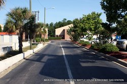 MAIN ENTERANCE BETWEEN WAFFLE HOUSE & RACEWAY GAS STATION