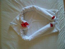Une des décorations faites par les femmes de ménage.