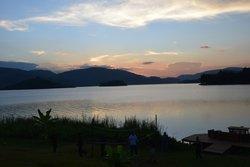 Lake Bunyonyi at sunset