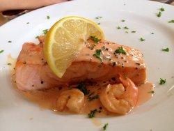 Salmon Fillet with prawn sauce