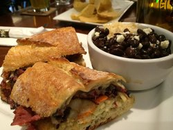 Frisco Tap House - a friend was very happy with their corned beef and black beans.