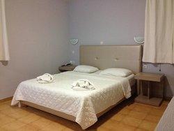 Split level apartment bedroom